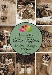 Dixi Craft - Paperpack - Vintage christmas sepia - ET0005