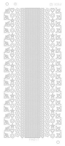 Card Deco - Stickervel - Platinum - Various Lines and Corners 2: Goud