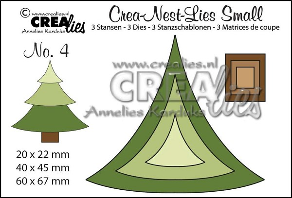 Crealies - Die - Crea-Nest-Lies Small - Kerstboom