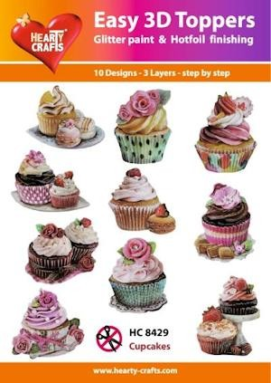 Hearty Crafts - Easy 3D Toppers - Cupcakes - HC8429