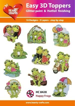 Hearty Crafts - Easy 3D Toppers - Happy Frogs - HC8428