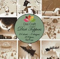 Dixi Craft - Paperpack - Christmas sepia - ET0214