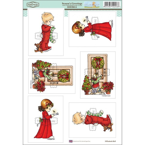 The Hobby House - Elisabeth Bell - (3D-)Stansvel A4 - Season`s Greetings - HHEB014