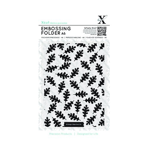XCut - Embossingfolder - Oak Leaf Pattern - XCU515149