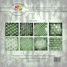 Dixi Craft - Paperpack - Stars: Green - PP0029