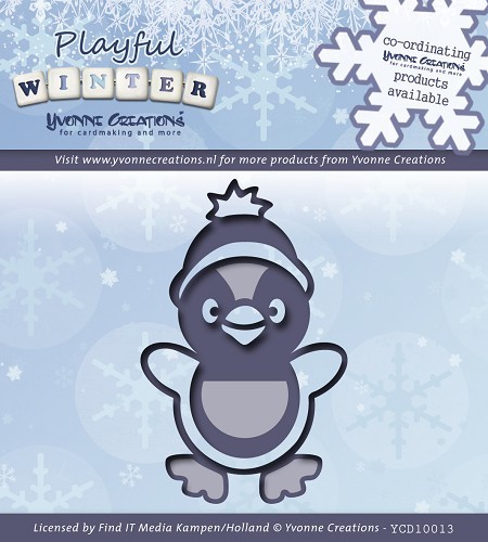 Card Deco - Yvonne Creations - Die - Playful Winter - Pinguïn