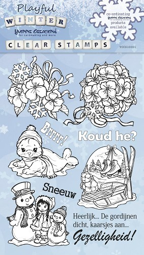 Yvonne Creations - Clearstamp - Playful Winter - YCCS10001