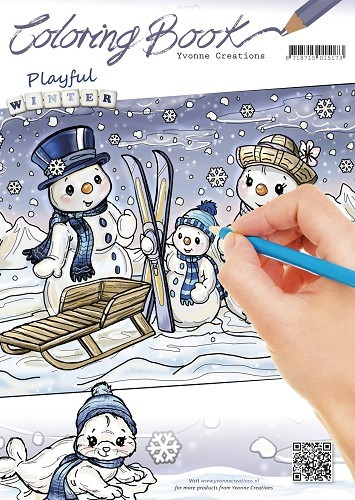 Yvonne Creations - Coloring Book - Playful Winter - YCCB10001