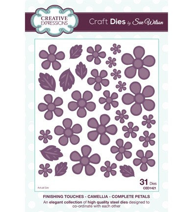 Creative Expressions - Die - The Finishing Touches Collection - Camellia - Complete Petals