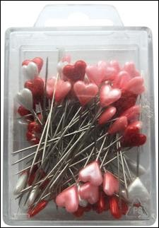 Marianne Design - Pins - Heart: red-white-pink - JU0945