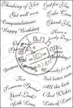 Marianne Design - Clearstamp - Best wishes - CS0916