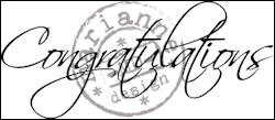 Marianne Design - Clearstamp - Congratulations - CS0918