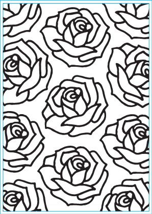 Elizabeth Craft Designs - Embossingfolder - Roses - E124