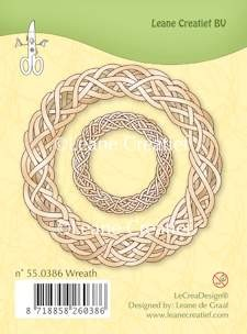 Leane Creatief - Clearstamp - Wreath - 55.0386