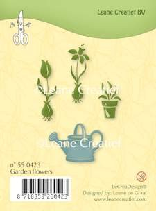 Leane Creatief - Clearstamp - Garden flowers - 55.0423