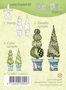 Leane Creatief - Clearstamp - Doodle - Conifers - 55.0447