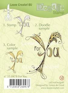Leane Creatief - Clearstamp - Doodle - For you - 55.0478