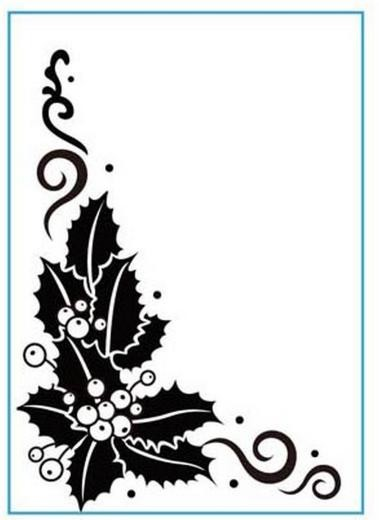Crafts-Too - Embossingfolder - Holly - CTFD3074