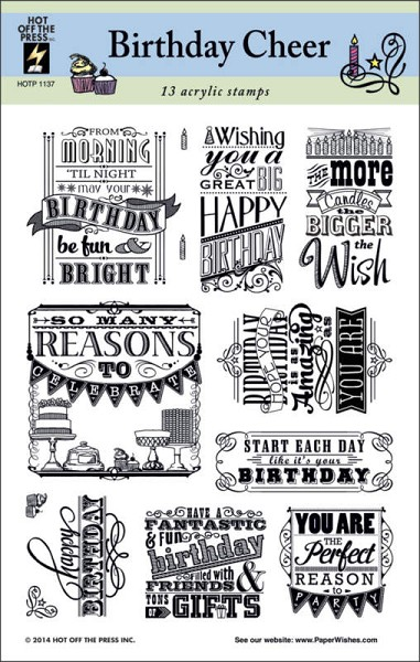 Hot off the press - Clearstamp - Birthday Cheer - HOTP-1137
