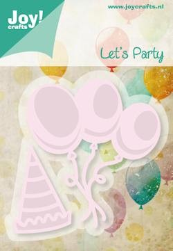 Joy! crafts - Noor! Design - Die - Let`s Party - Ballonnen en muts