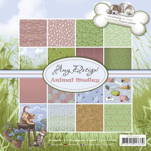 Amy Design - Paperpack - Animal Medley - ADPP10006