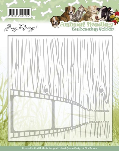 Amy Design - Embossingfolder - Animal Medley - ADEMB10001