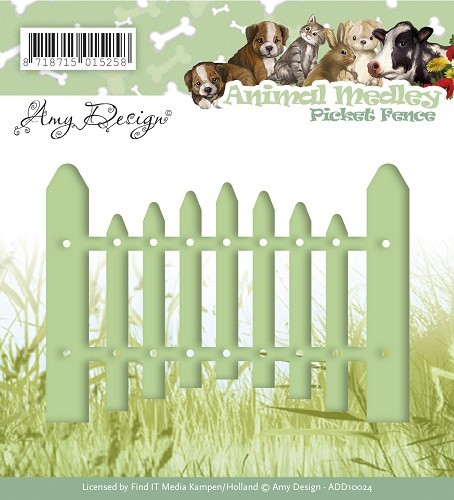 Amy Design - Die - Animal Medley - Picket Fence - ADD10024