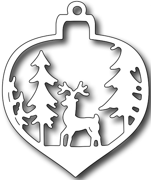 Frantic Stamper Inc. - Die - Deer Christmas Bauble