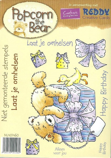 Crafter`s Companion - Popcorn the Bear - Cling Stamp - Laat je omhelzen - NL401460