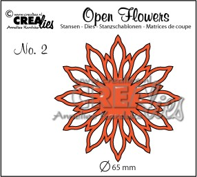 Crealies - Die - Open Flower - No. 02