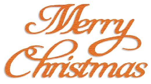 Crafts-Too - Presscut - Die - Merry Christmas