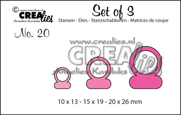Crealies - Die - Set of 3 - Pendant - No. 20