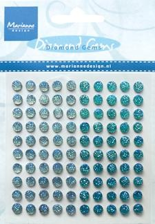 Marianne Design - Diamond Gems: Light blue & blue - JU0938