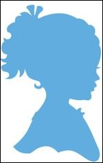 Marianne Design - Die - CreaTables - Silhouet girl with ponytail - LR0349