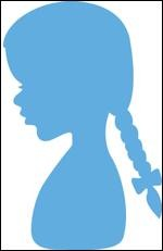 Marianne Design - Die - CreaTables - Silhouette Girl with Braids - LR0350