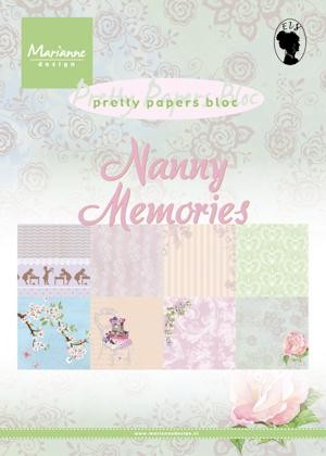 Marianne Design - Paperpack - Pretty Papers - Nanny Memories - PK9122