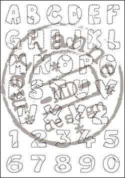 Marianne Design - Clearstamp - Patchwork alphabet - EC0921