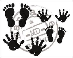 Marianne Design - Clearstamp - Hands and feet - CS0924