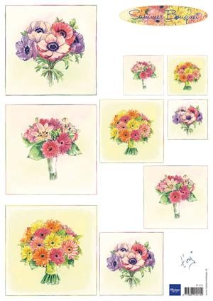 Marianne Design - Tiny`s - 3D-knipvel A4 - Summer Bouquet