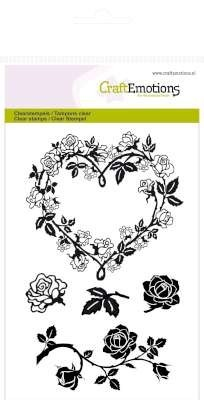 CraftEmotions - Clearstamp - Roses heart - 130501/1120