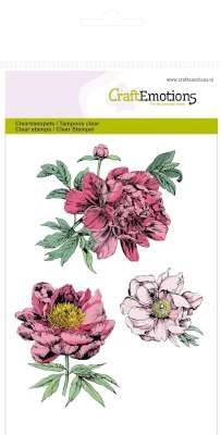 CraftEmotions - Clearstamp - Peonies - 130501/1121