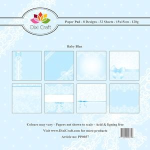 Dixi Craft - Paperpack - Baby: Blue - PP0037