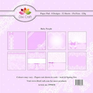 Dixi Craft - Paperpack - Baby: Purple - PP0038
