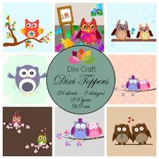 Dixi Craft - Paperpack - Owls colour - ET0229