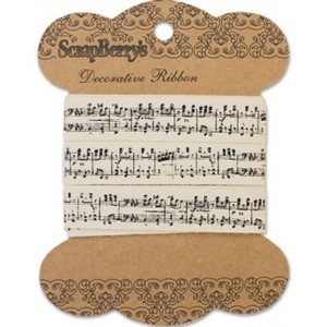 ScrapBerry`s - Printed Decorative Ribbon - Music - SCB390204