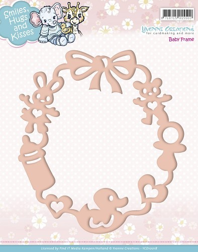 Card Deco - Yvonne Creations - Die - Smiles, Hugs and Kisses - Baby Frame