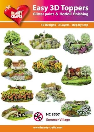 Hearty Crafts - Easy 3D Toppers - Summer Village - HC8507