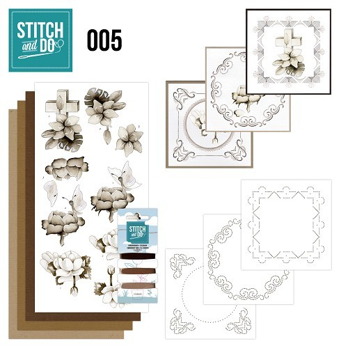 Card Deco - Kaartenpakket - Stitch & Do No. 05 - Condoleance