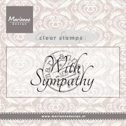 Marianne Design - Clearstamp - With sympathy - CS0928