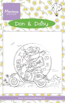 Marianne Design - Don & Daisy - Clearstamp - Scooting Daisy - DDS3349